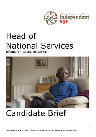 Independent Age Head of National Services job pack