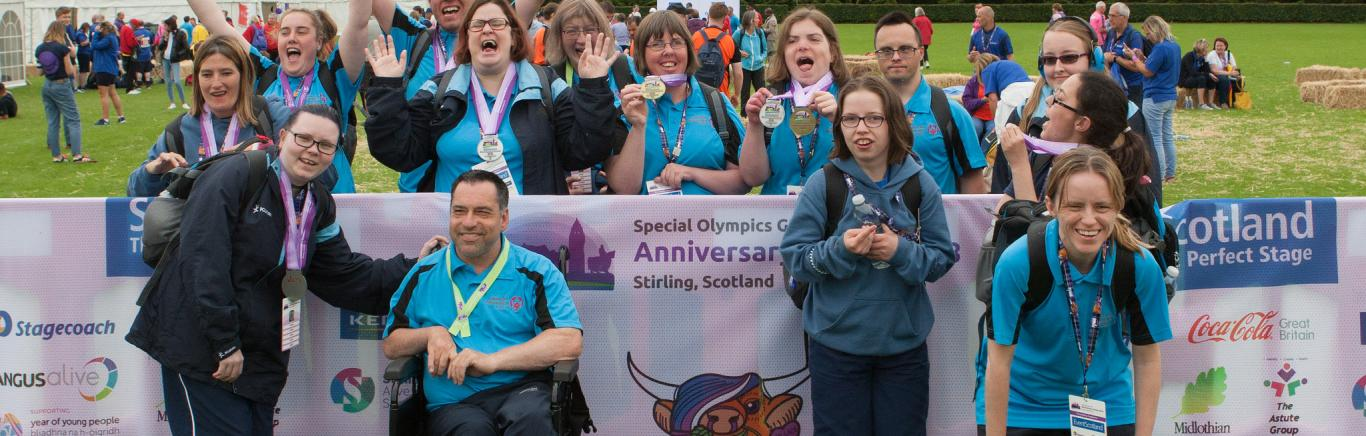 Special Olympics athletes in Stirling